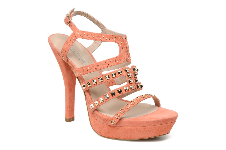 Sandales et nu-pieds Pura Lopez Marika Rose vue détail/paire