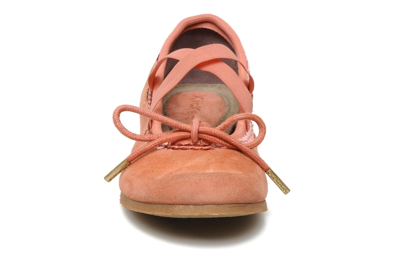 Ballerinas Kickers LILASTIK rosa schuhe getragen