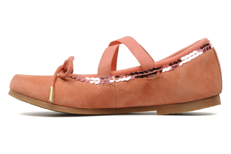 Ballerinas Kickers LILASTIK rosa ansicht von vorne