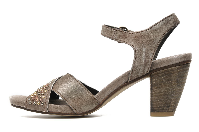 Sandales et nu-pieds Khrio Melton Marron vue face