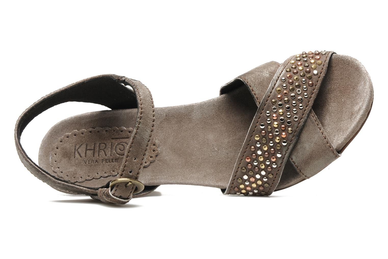 Sandales et nu-pieds Khrio Melton Marron vue gauche