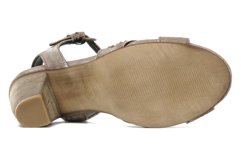 Sandales et nu-pieds Khrio Melton Marron vue haut