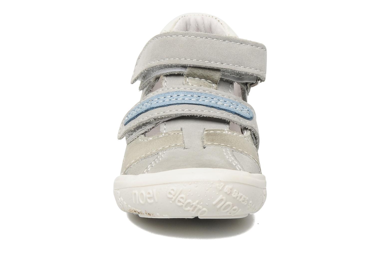Skor med kardborrband Noël Mini Rialta Grå bild av skorna på