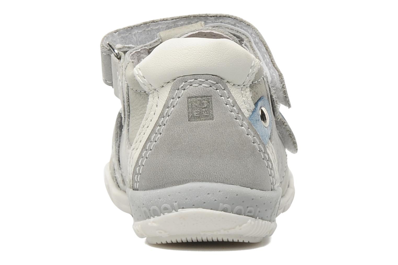 Zapatos con velcro Noël Mini Rialta Gris vista lateral derecha