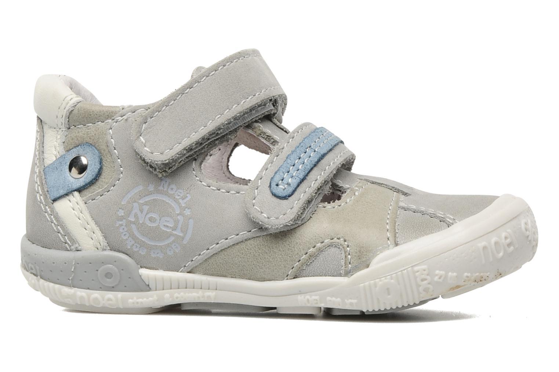 Chaussures à scratch Noël Mini Rialta Gris vue derrière