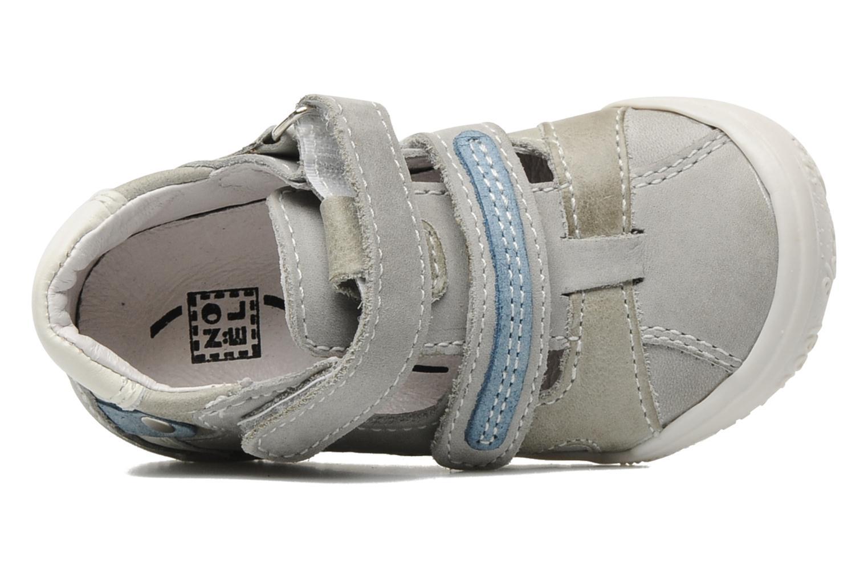 Zapatos con velcro Noël Mini Rialta Gris vista lateral izquierda
