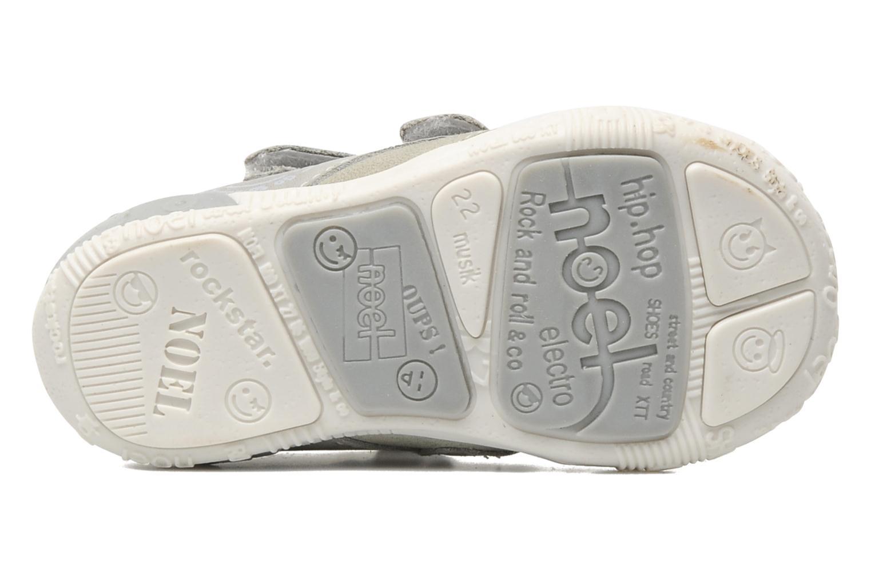 Zapatos con velcro Noël Mini Rialta Gris vista de arriba