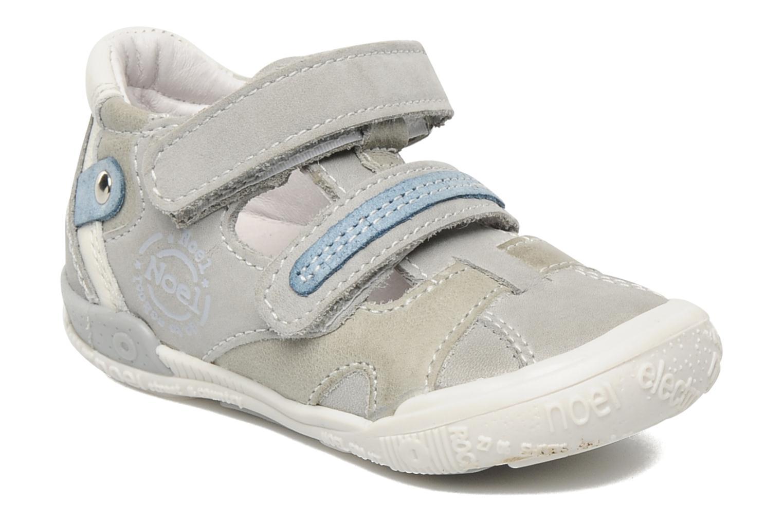 Velcro shoes Noël Mini Rialta Grey detailed view/ Pair view