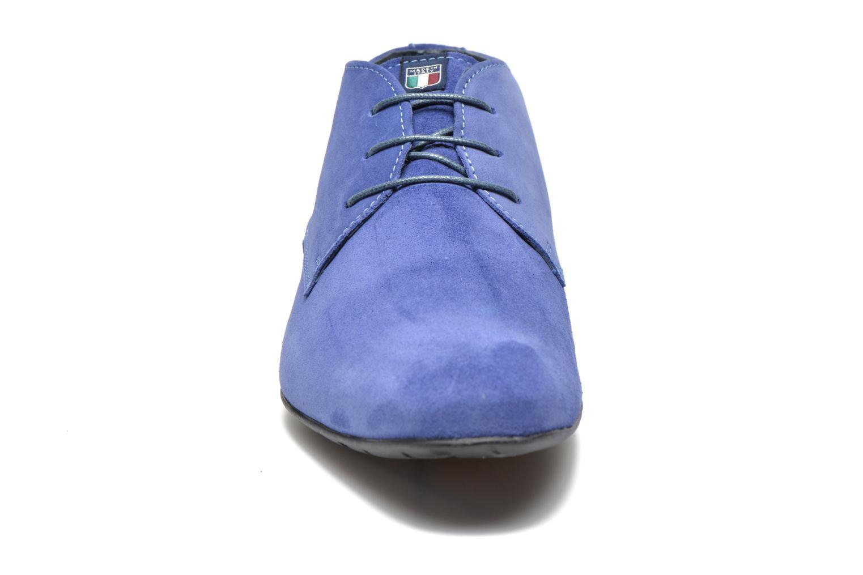 Schnürschuhe Marvin&Co Nathanael blau schuhe getragen