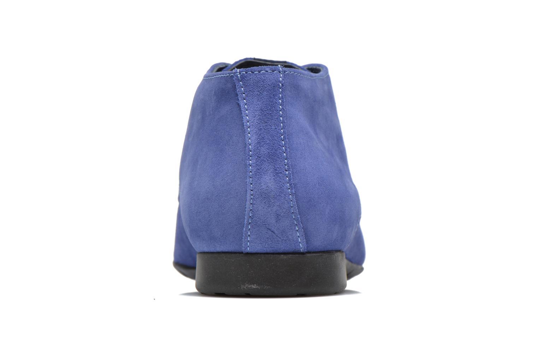 Zapatos con cordones Marvin&Co Nathanael Azul vista lateral derecha