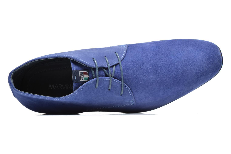 Zapatos con cordones Marvin&Co Nathanael Azul vista lateral izquierda