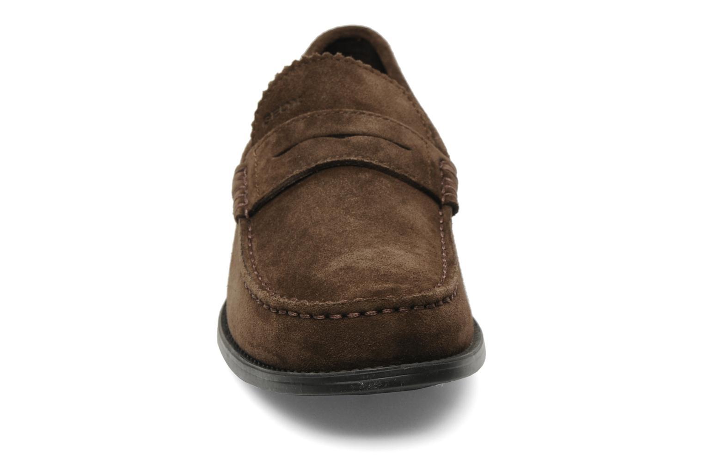Mocassins Geox U DAMON B U24W6B Marron vue portées chaussures