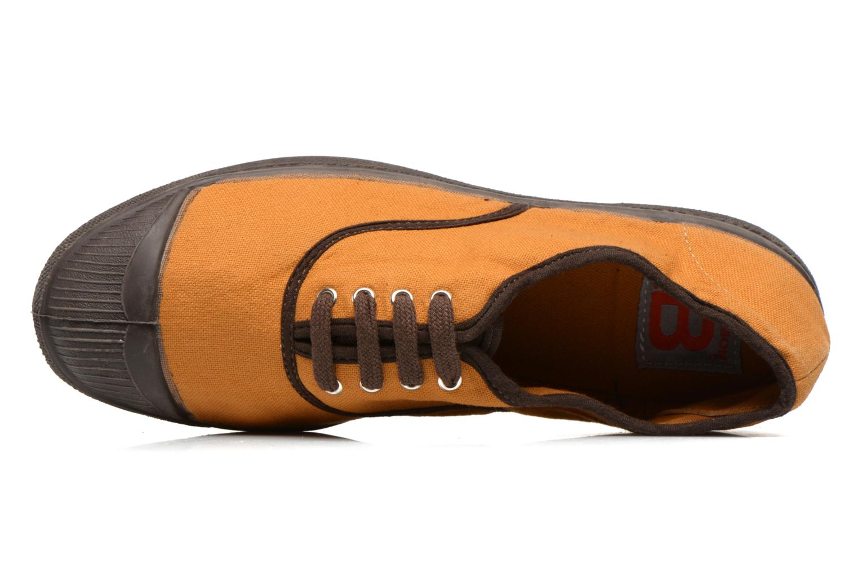 Deportivas Bensimon Tennis Colorpiping Naranja vista lateral izquierda