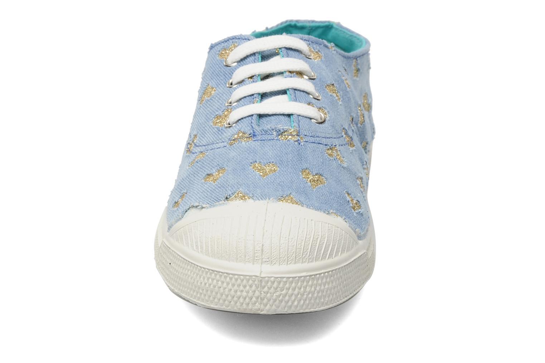 Baskets Bensimon Tennis Glitter Love Bleu vue portées chaussures