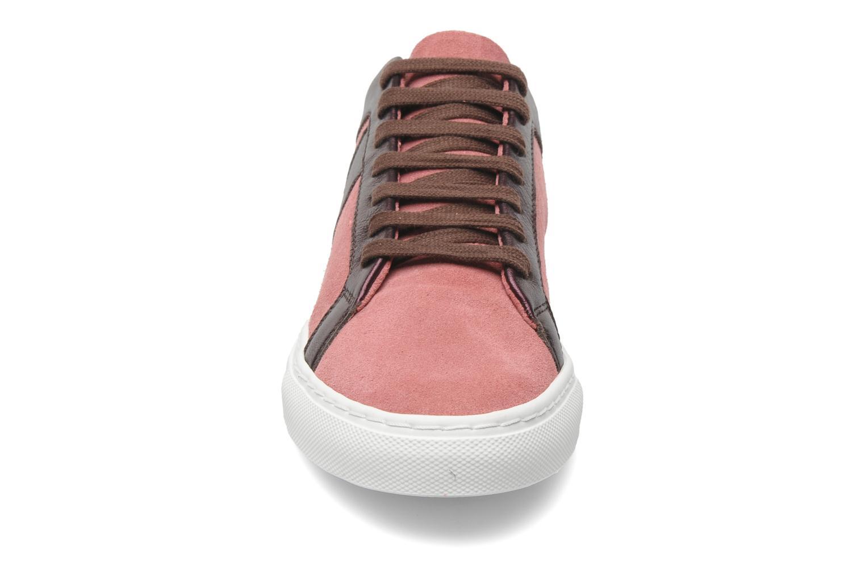 Sneaker Bensimon Flexys Suède/cuir F rosa schuhe getragen