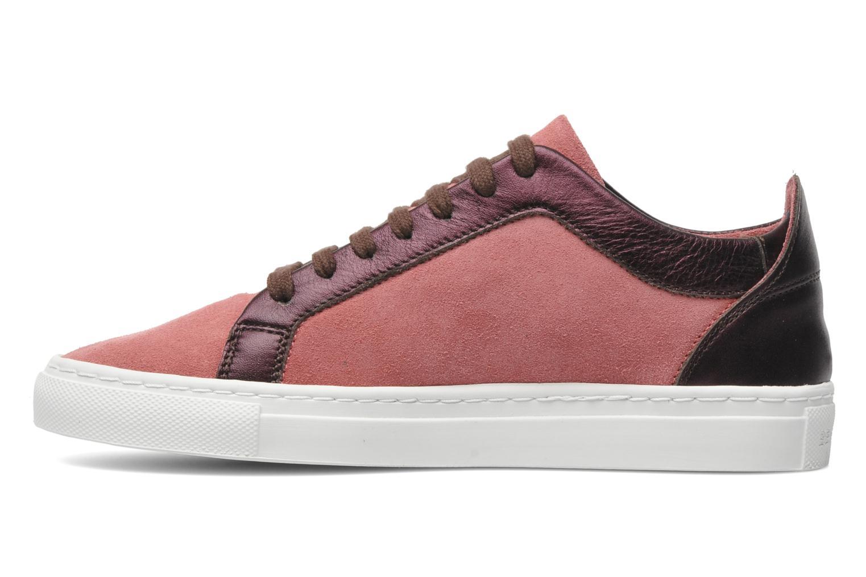 Sneaker Bensimon Flexys Suède/cuir F rosa ansicht von vorne