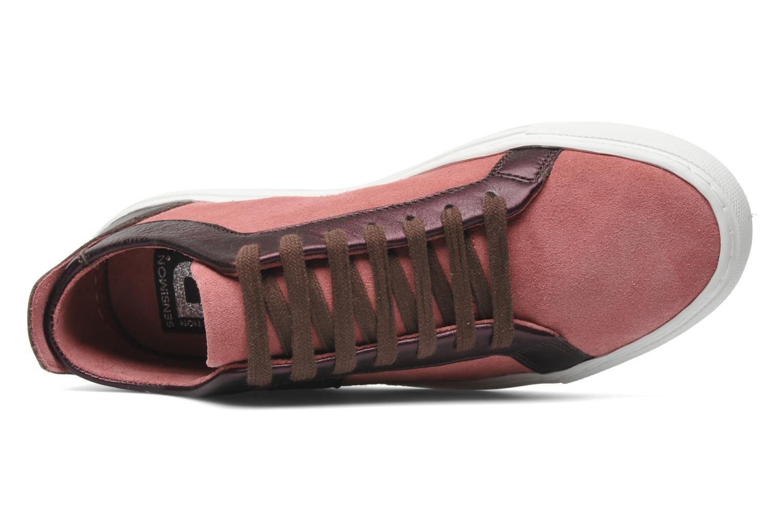 Sneaker Bensimon Flexys Suède/cuir F rosa ansicht von links