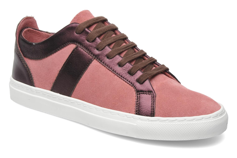 Sneaker Bensimon Flexys Suède/cuir F rosa detaillierte ansicht/modell
