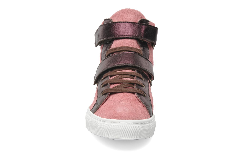 Baskets Bensimon Sneakys Suède/Cuir F Rose vue portées chaussures