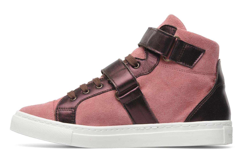 Sneaker Bensimon Sneakys Suède/Cuir F rosa ansicht von vorne