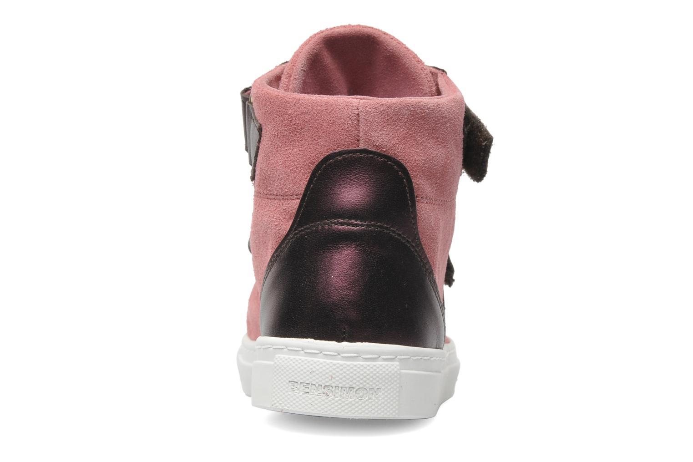 Sneaker Bensimon Sneakys Suède/Cuir F rosa ansicht von rechts