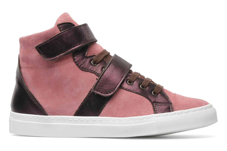 Sneaker Bensimon Sneakys Suède/Cuir F rosa ansicht von hinten