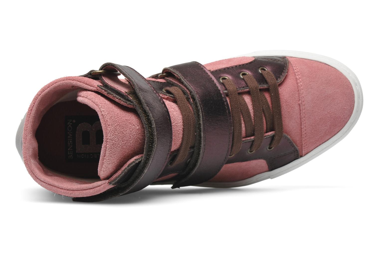 Sneaker Bensimon Sneakys Suède/Cuir F rosa ansicht von links