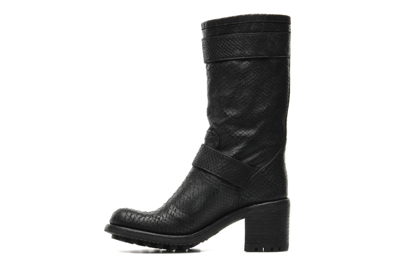 Bottines et boots Free Lance Biker 7 Mid Strap Noir vue face