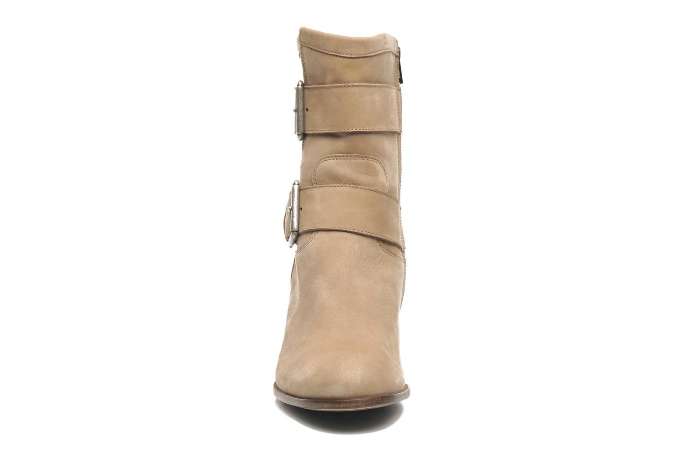 Stiefeletten & Boots Free Lance Azev 7 mini strap braun schuhe getragen