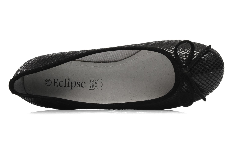 Ballerinas Eclipse Ballerine Lézard schwarz ansicht von links