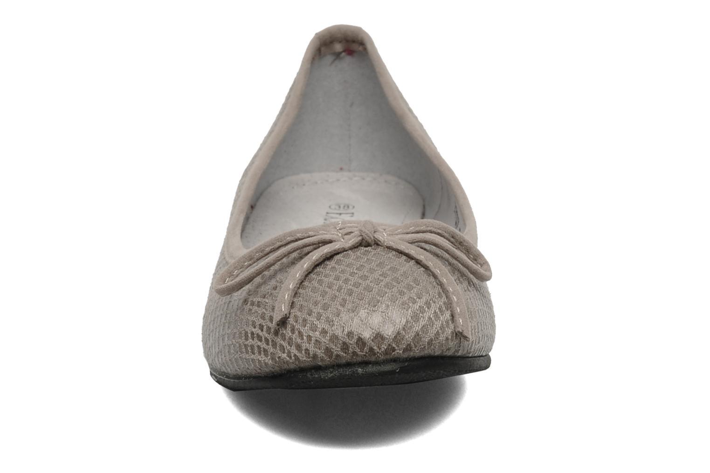 Ballerines Eclipse Ballerine Lézard Gris vue portées chaussures