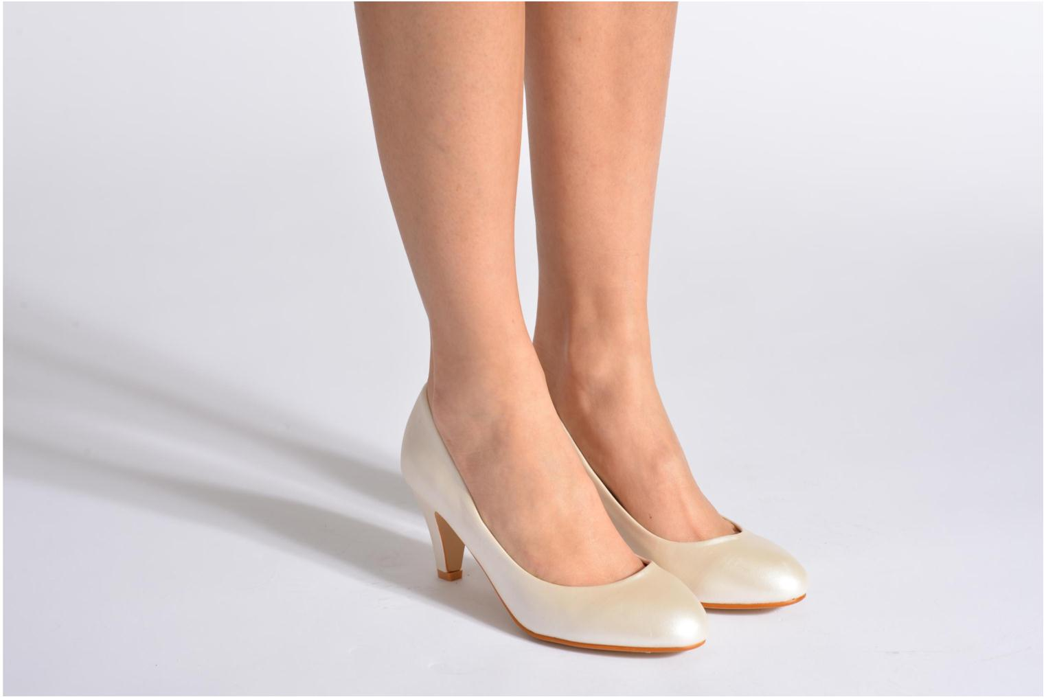 Pumps Eclipse Escarpin Moyen Talon Beige onder