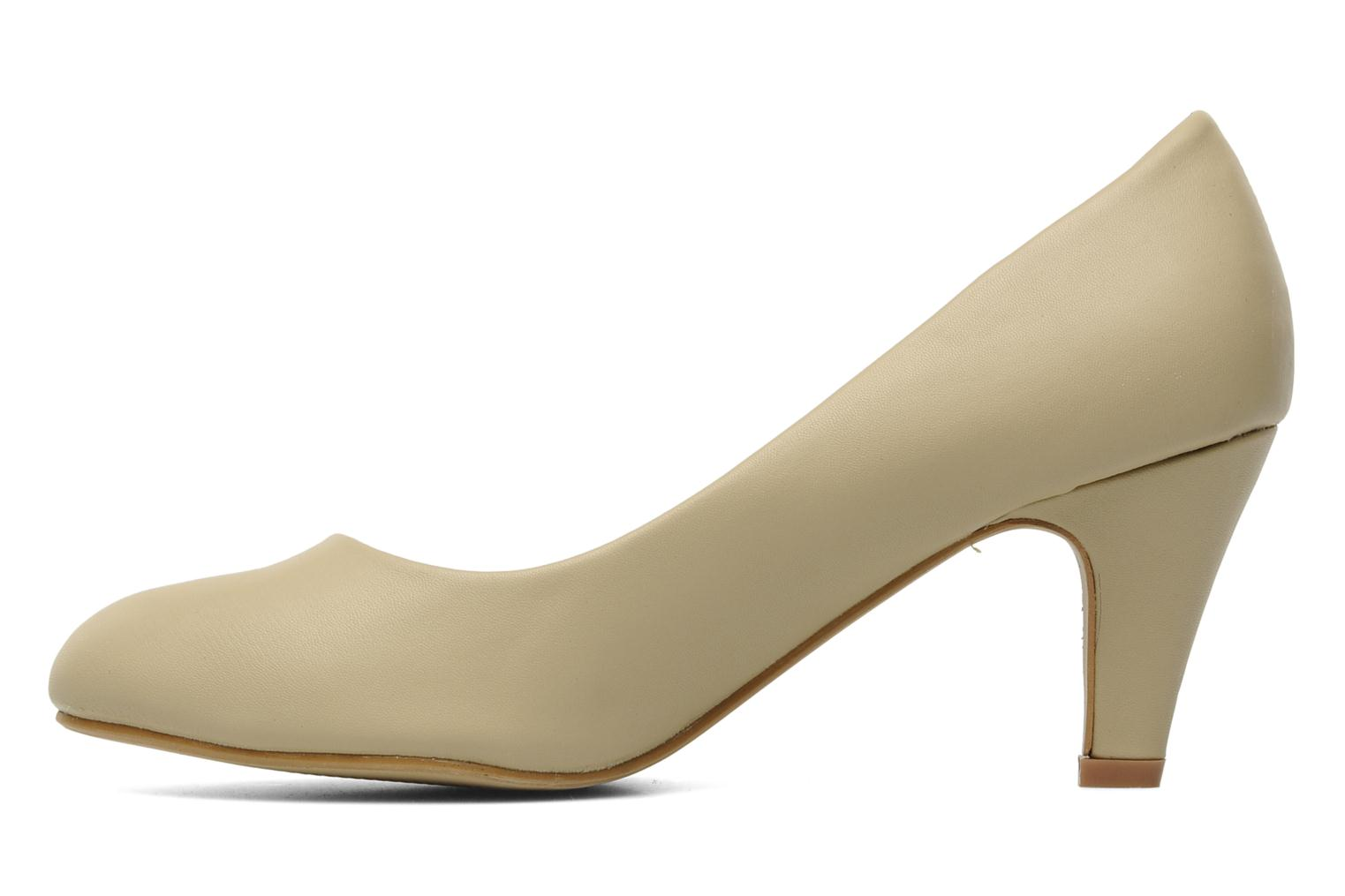 Pumps Eclipse Escarpin Moyen Talon Beige voorkant