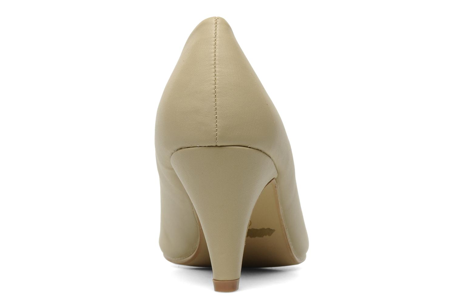 Pumps Eclipse Escarpin Moyen Talon Beige rechts