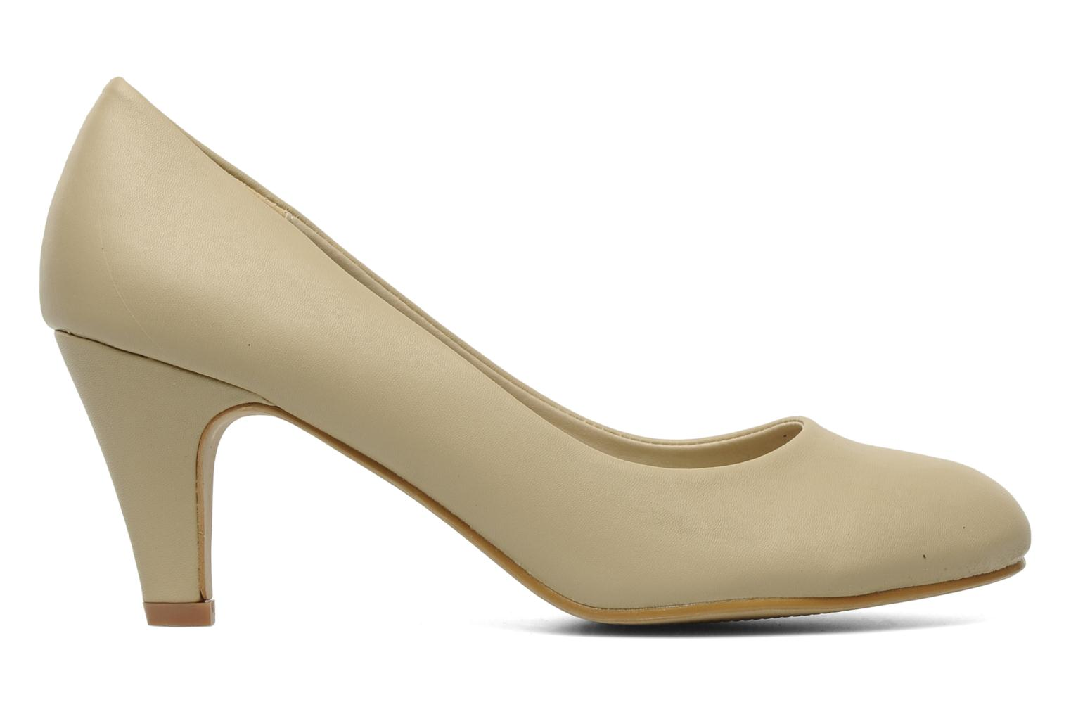 Pumps Eclipse Escarpin Moyen Talon Beige achterkant