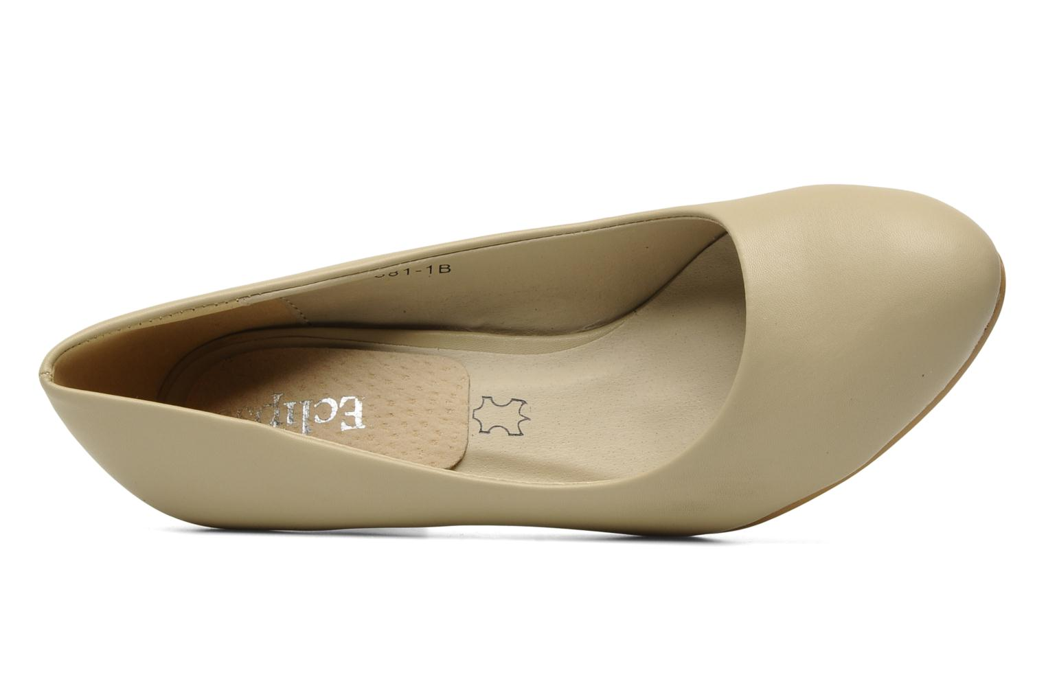 Pumps Eclipse Escarpin Moyen Talon Beige links