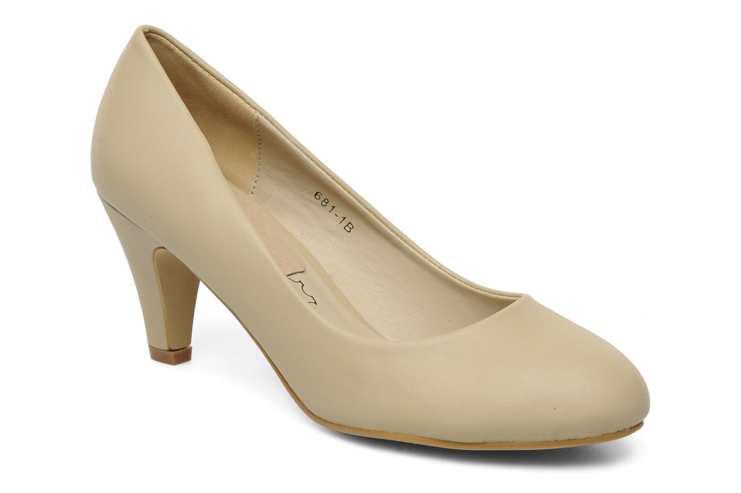 Pumps Eclipse Escarpin Moyen Talon Beige detail
