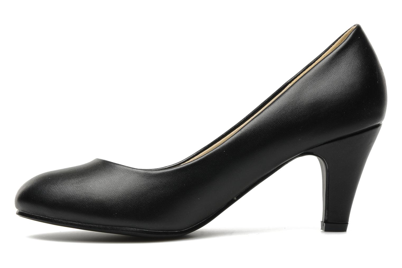 Zapatos de tacón Eclipse Escarpin Moyen Talon Negro vista de frente