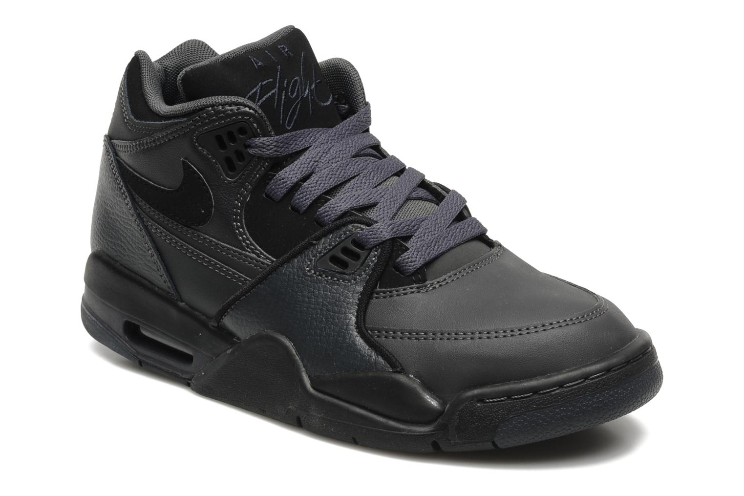 nike air flight 89 noir; nike air flight 89 anthracite green purple