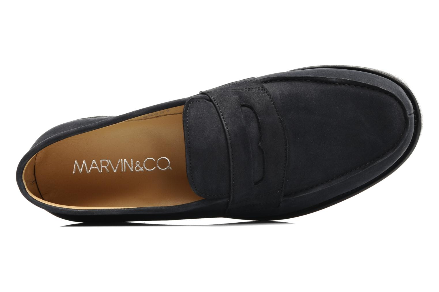 Mocassins Marvin&Co Armand Bleu vue gauche