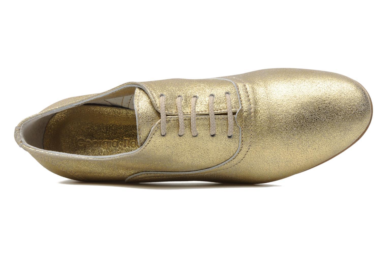 Chaussures à lacets Georgia Rose Lalla Or et bronze vue gauche