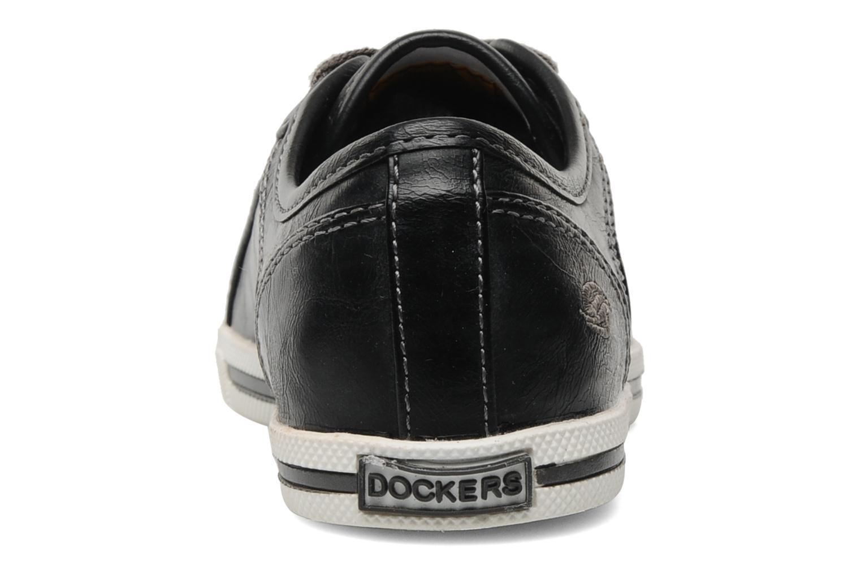 Sneaker Dockers Marius schwarz ansicht von rechts
