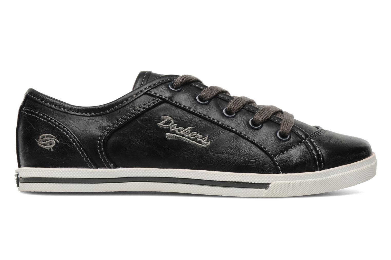 Sneaker Dockers Marius schwarz ansicht von hinten