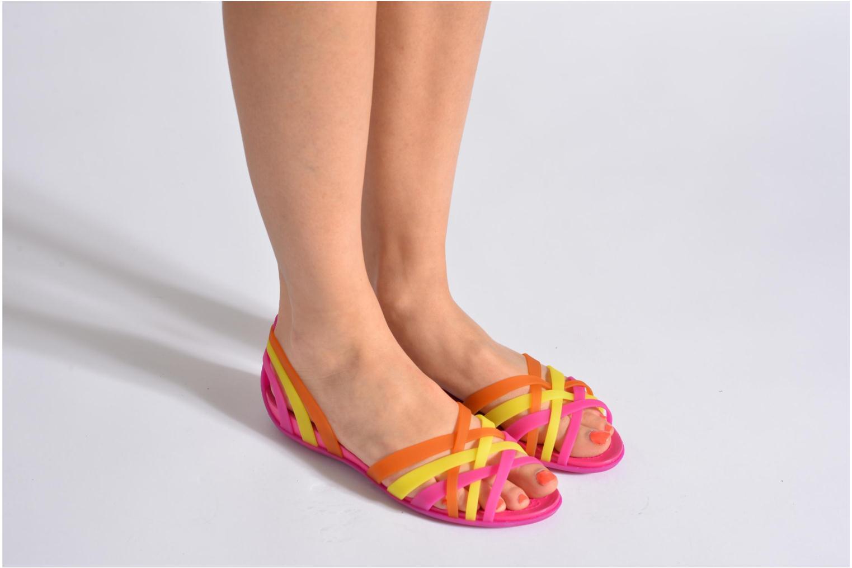 Sandales et nu-pieds Crocs Huarache Flat Women Multicolore vue bas / vue portée sac