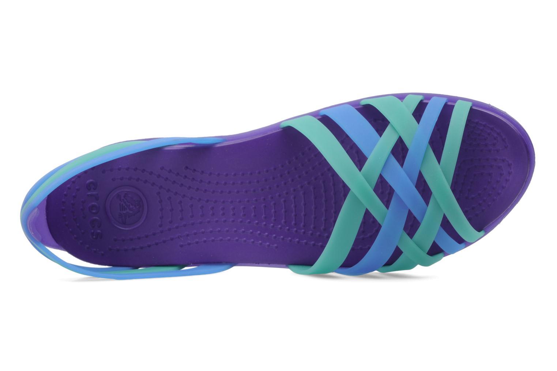 Sandales et nu-pieds Crocs Huarache Flat Women Multicolore vue gauche