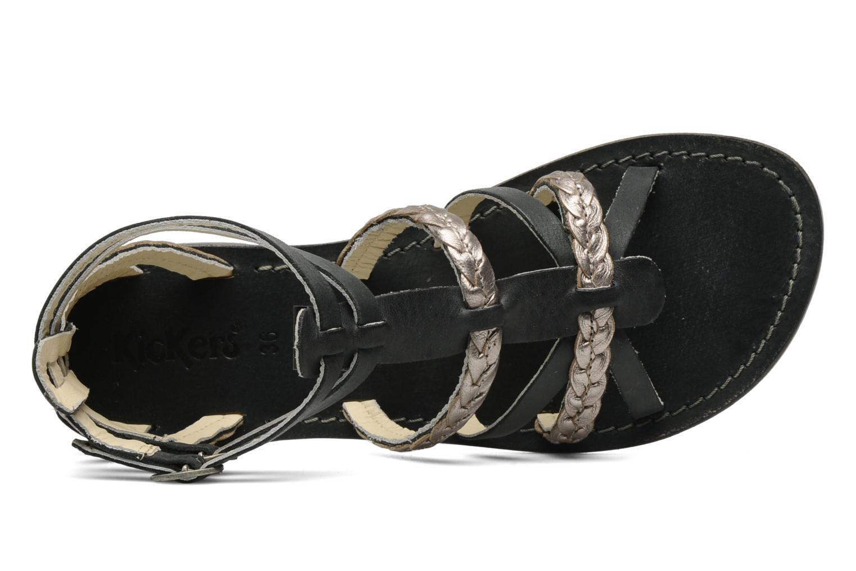 Sandalen Kickers Dionisia schwarz ansicht von links