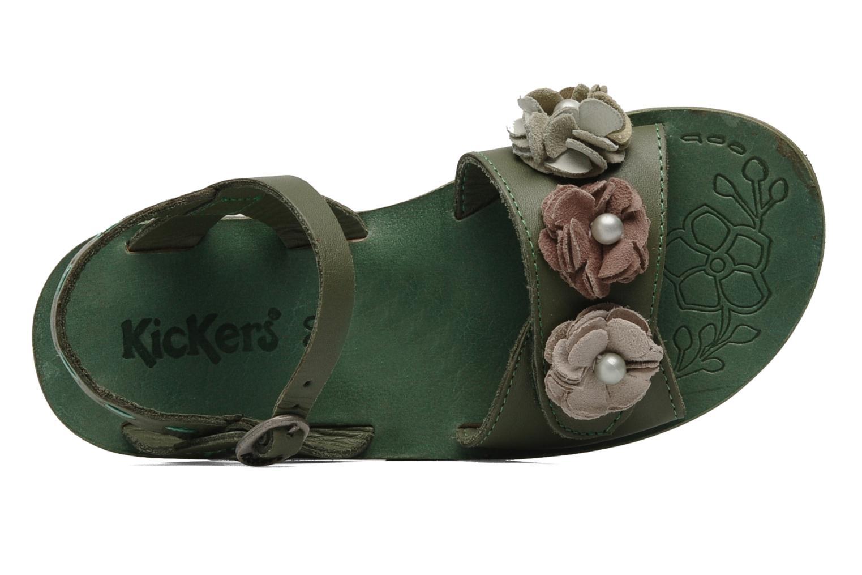 Sandalen Kickers Botanic Groen links
