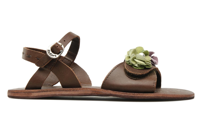 Sandalen Kickers Botanic Bruin achterkant