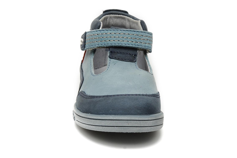 Bottines d'été Kickers Transat Bleu vue portées chaussures
