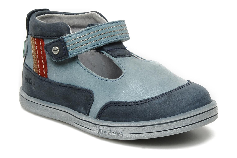 Sommersko Kickers Transat Blå detaljeret billede af skoene